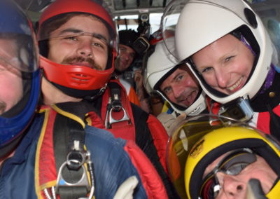Group of 6 flying up to do first skydive in Garden Route, South Africa