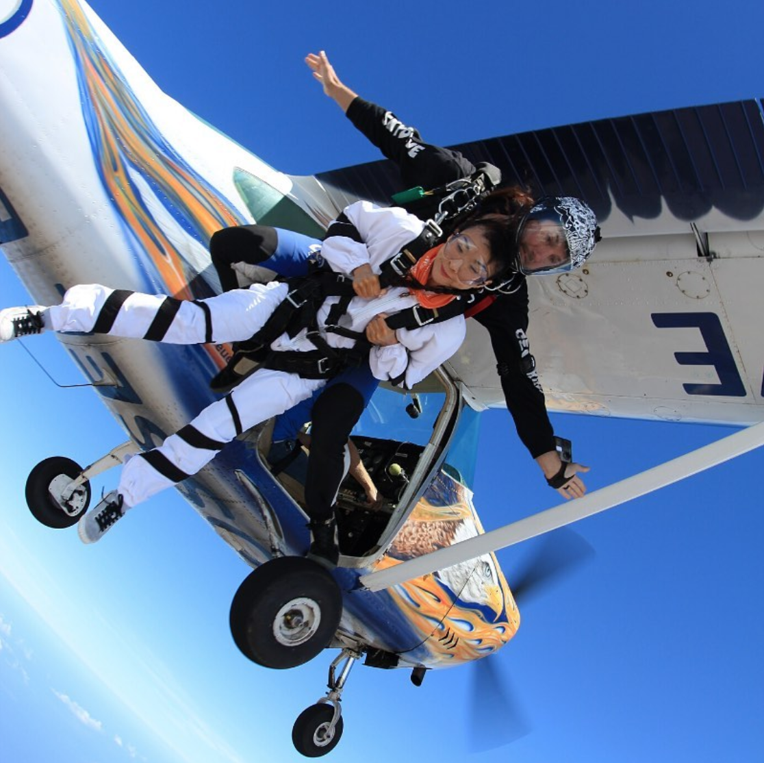 Tandem Skydiving in South Africa at Skydive Mossel Bay near Cape Town