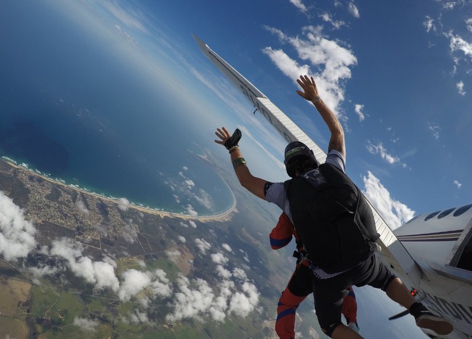 How much does skydiving cost in South Africa?