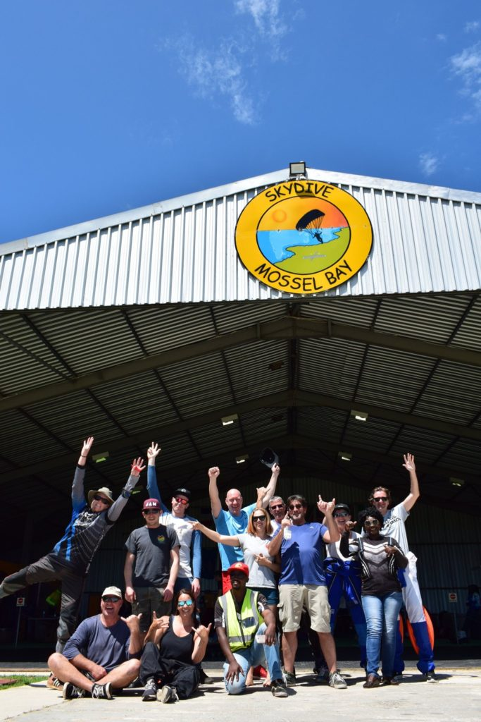 The team at Skydive Mossel Bay along the Garden Route in South Africa
