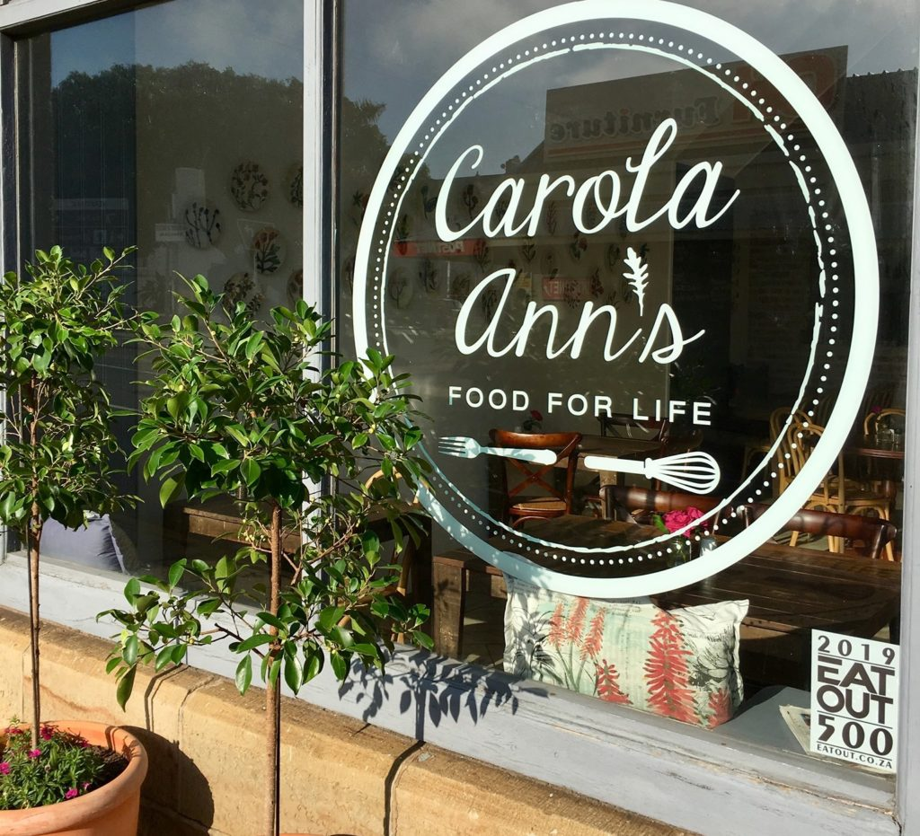 Carola Anns Restaurant in Mossel Bay on the Garden Route, South Africa