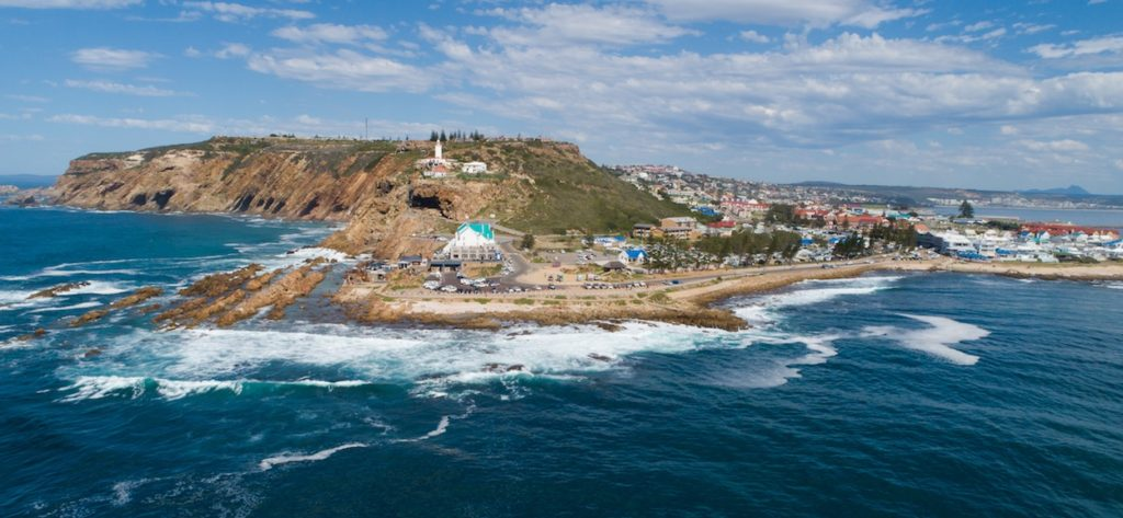 Panoramic views of the stunning holiday town of Mossel Bay in the Garden Route of South Africa