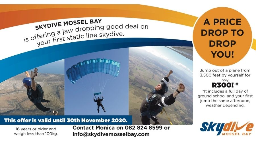 Advertisement for Static line Sale of R300